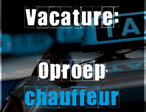 Vacature oproepchauffeur